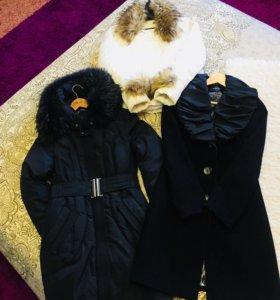Пуховик, куртка, пальто р 42-44, рост 160