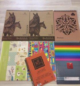 Скетчбук и альбомы для рисования