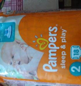 Подгузники Pampers Sleep&Play 2 (3-6 кг) 18 шт
