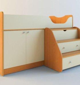 детская кровать-стол в отличном состоянии