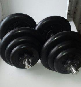 Гантели наборные 38.2 кг
