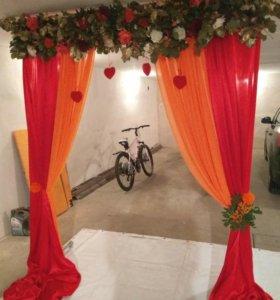 Арка для выездной регистрации свадьбы