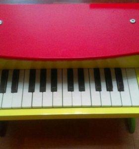 Пианино деревянное детское