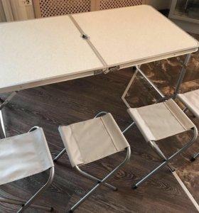 Складной стол, стулья