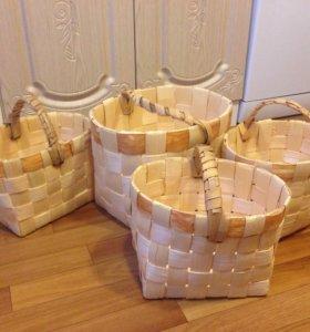 Плетёная корзинка из сосны