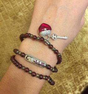 Натур.камни браслет