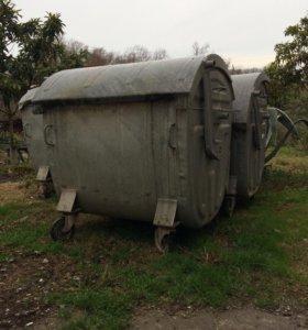 Контейнер. Бак для мусора 1100 литров.Оцинкованный