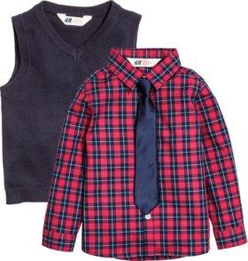 Рубашка, жилет и галстук H&M