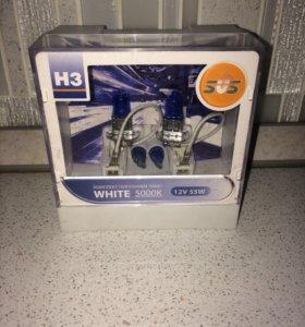 Лампы H3 в противотуманные фары,цена за всё