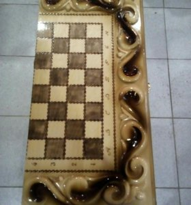 Деревянные нарды-шахматы
