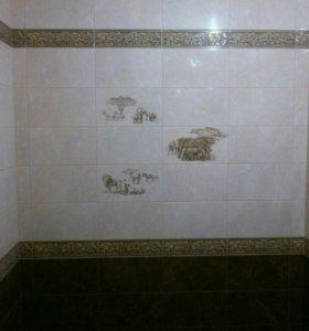 Укладка плитки. Ремонт ванной комнаты