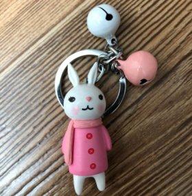 """Брелок на ключи """"Корейский зайчик"""""""