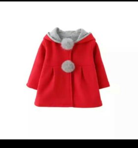 Пальто красное  новое размер указан 100,маломер