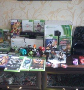 Xbox 360 250Gb+Kinekt+Infiniti+игры