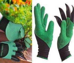 Садовые перчатки с когтями.