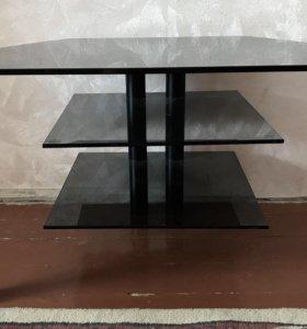 Стол стеклянный под ТВ
