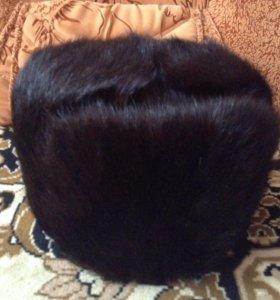 Шапка мужская норковая новая цвет чёрный