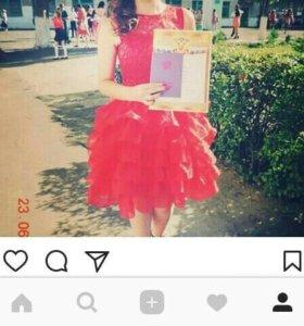 Продам выпускное платье, 42 размера. Одевалось 1 р