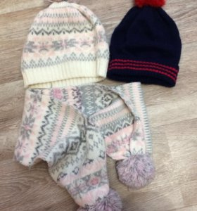 Комплект Шапка и шарф + подарок