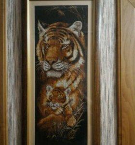 """Картина ручной работы """" Тигрица """""""