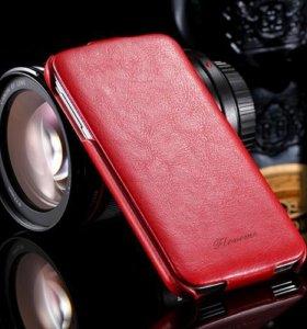 Люксовый флип-кейс для SAMSUNG S5, новый