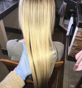 Кератиновое выпрямление - восстановление волос.