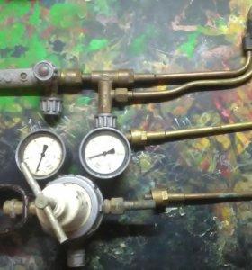 Газовый резак и редуктор