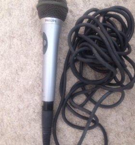 Микрофон для караоке б/у PHlLIPS СРОЧНО !