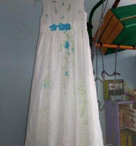 Платье в пол 6-8 лет 116-122