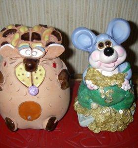 Копилка баран и мышь, новая