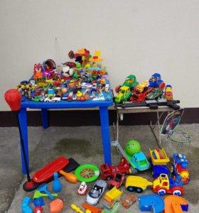 Игрушки машинки, треки, груша, для песочницы, мячи