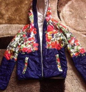 Двухсторонняя куртка размер 44-46