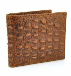 Мужской бумажник из натуральной кожи аллигатора
