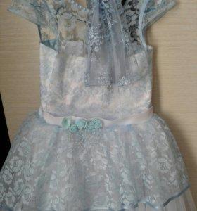 Продам пышное платье+перчатки+кольцо под платье