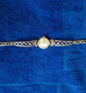 Золотые часы с браслетом,583 проба