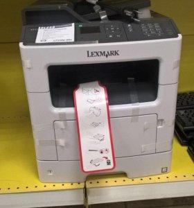 Новое мфу лазерное Lexm (принтер, сканер, копир)