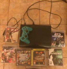 PS3 + 5 игр + ТОРГ