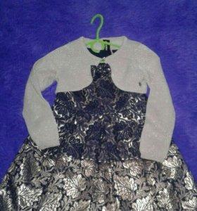 Нарядное платье+балеро Акула р-р 110, можно раньше