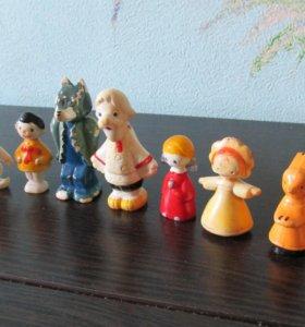 Набор пластмассовых игрушек СССР