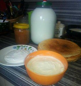 Молоко,творог,сметана,сливки,масло,яйцо