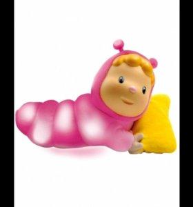 /Кукла-ночник Smoby Cotoons Гусеница розовая