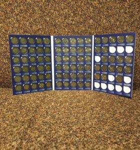 Альбом с юбилейными монетами биметалл