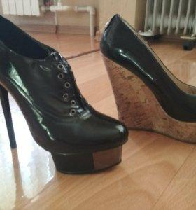 Ботильоны и туфли лакировка