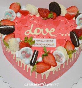 Торты на заказ. Торт с ягодами. Десерты на заказ