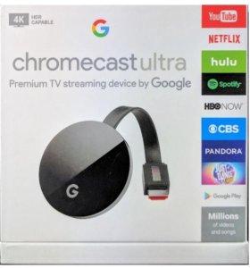 Google Chromecast Ultra 4K Новый