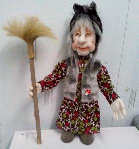 """интерьерная кукла""""Бабуся Ягуся"""""""