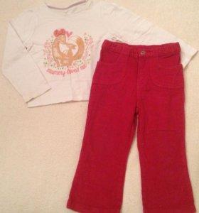 Брюки, джинсы и футболки от 86см