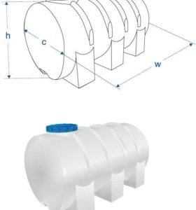 Пластиковый бак для воды (пищевой) Новый 300 л