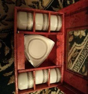 Новый Кофейный набор, 6 чашек, 6 блюдечек