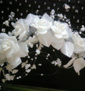 Украшение для волос свадебное (цветы)